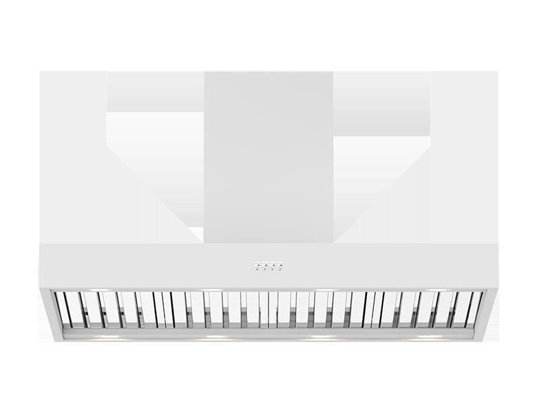 New York 120 Wall Canopy - Satin White Finish