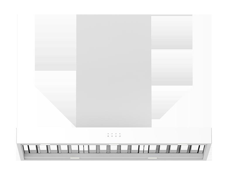 Rome 90 (White) Wall Canopy - Satin White Finish